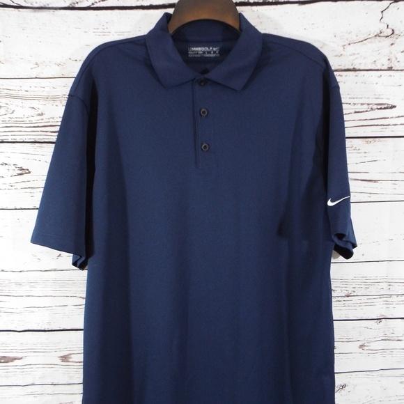 8da2f174b Nike Shirts | Fit Dry Golf Polo Mens Blue Shirt L | Poshmark